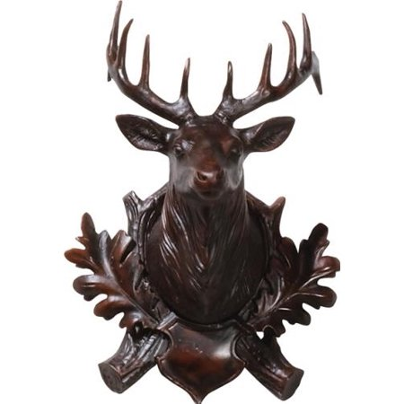 Wall Trophy Elk Head Small Cast Resin New Hand-Cast Hand-Painted Painted OK-22