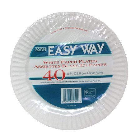 New 821191  Easy Way Paper Plates 9In 40Ct (24-Pack) Plates Cheap Wholesale Discount Bulk Party Supplies Plates](Cheap And Easy Halloween Party Ideas)