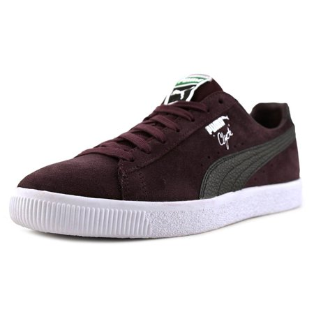 huge selection of e09ff 84f46 Puma Clyde B&C Round Toe Suede Sneakers