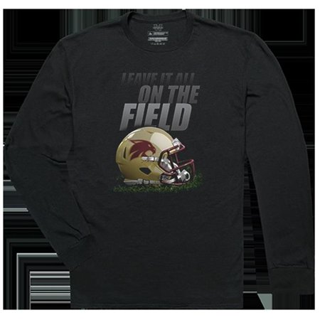 W Republic Apparel 525-181-E27-03 United States Military Academy Gridiron Long Sleeve T-Shirts for Men - Black, Large - image 1 of 1