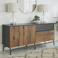 Better Homes & Gardens Lindon Place Buffet Credenza, Vintage Oak Finish
