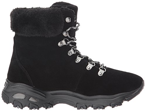 Skechers Women's D'Lites-Alps W Snow Boot,Black,9.5 W US