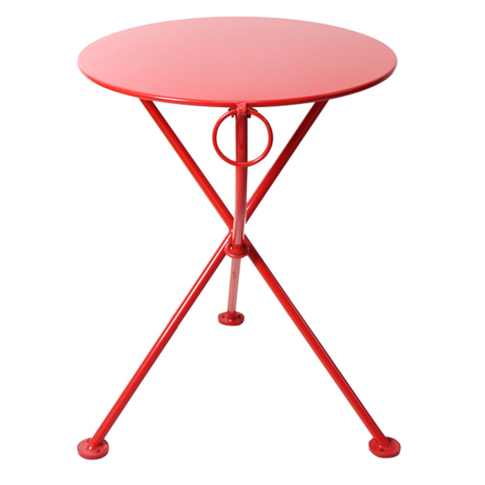 Furniture Designhouse French Veranda European Cafe 24 in. Round Folding Patio Bistro Table