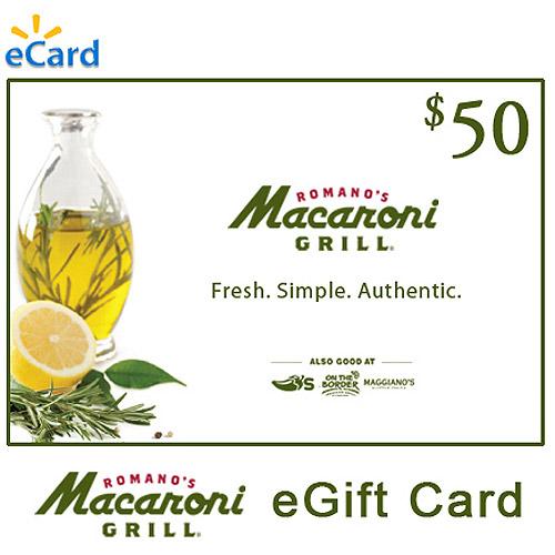(Email Delivery) Macaroni Grill $50 eGift Card
