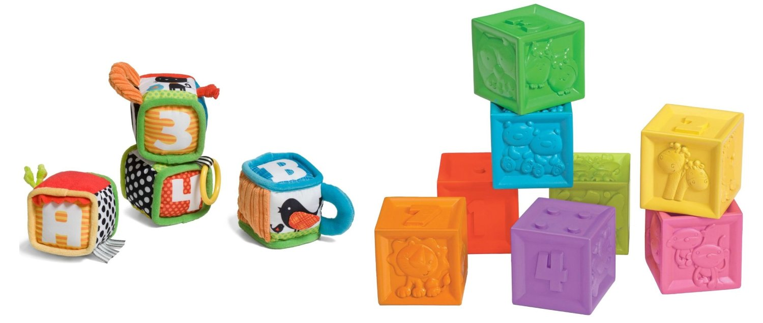 Infantino Discover and Play Soft Blocks with Squeeze and Stack Blocks by Infantino