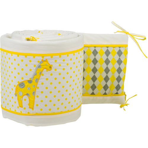 Pam Grace Creations Simply Argyle Giraffe Crib Bumper