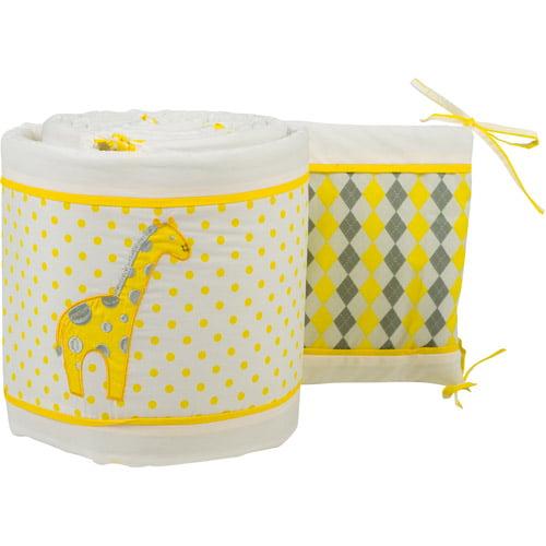 Pam Grace Creations Simply Argyle Giraffe Crib Bumper