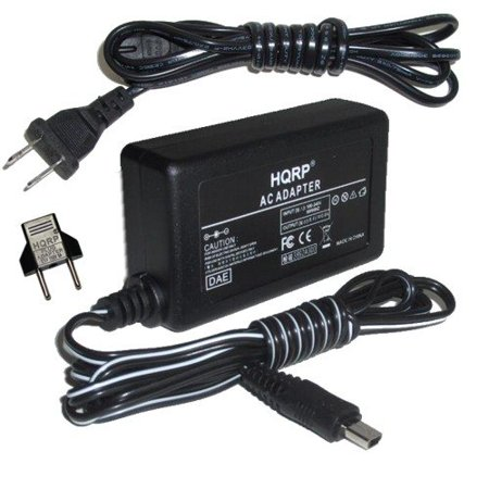 HQRP AC Power Adapter / Charger compatible with Canon VIXIA HF R100, VIXIA HF R11, ZR800, ZR830 Camcorder plus Euro Plug Adapter - image 3 de 4