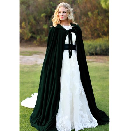 Kid Costume For Adults (Halloween Hooded Cloak Velvet Witches Princess Death Long Cape Adult Kids Costume Cosplay)