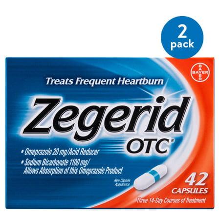 (2 Pack) Zegerid OTC Heartburn Relief, Proton Pump Inhibitor, Capsules,