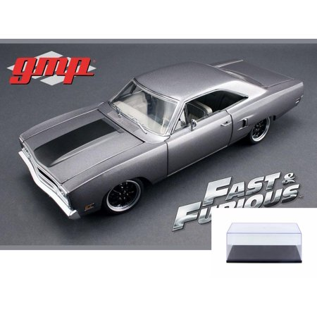 Diecast Car & Display Case Package - 1970 Plymouth Road Runner The Hammer The Fast & Furious Tokyo Drift Movie, Silver w/Black - Greenlight 18857 - 1/18 Scale Diecast Model Toy Car w/Display (Fast And Furious Tokyo Drift Cars For Sale)