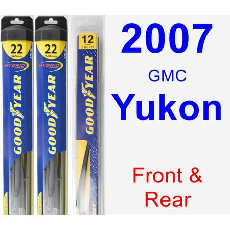 Gmc Yukon Wiper Motor - 2007 GMC Yukon Wiper Blade Set/Kit (Front & Rear) (3 Blades) - Rear