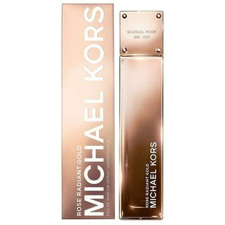 Michael Kors Rose Radiant Gold Eau De Parfum Spray for Women 3.4 (Michael Kors Eau De Parfum Spray 3-4 Oz)