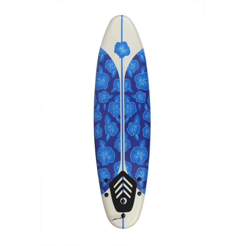 North Gear 6 ft Foam Surfboard Blue/White - Walmart.com