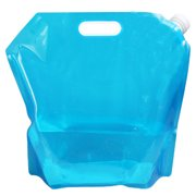 Smilepp Camping Hiking BPA Free Soft Polymer Collapsible Portable Folding Water Storage Bag Container