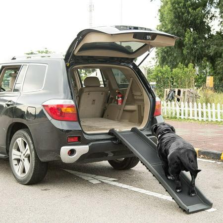 Bifold Pet Ramp Foldable Dog Car Ramp 176lbs Load Non-Skid Outdoor Travel Dog Car Ramp for Cars SUVs Trucks