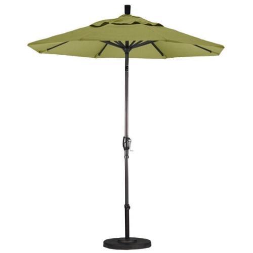California Umbrella 7.5' Market Patio Umbrella with Push Tilt in Palm