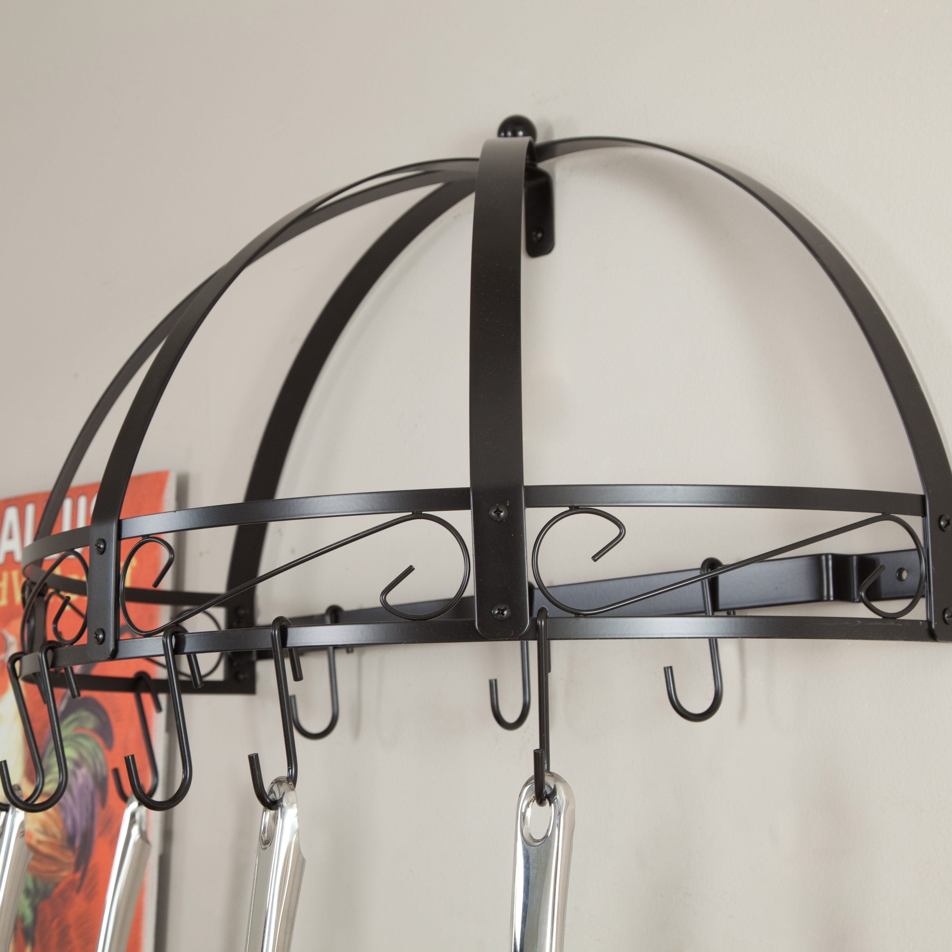 Kinetic Go Green Classicor Wrought-Iron Semi-Circle Pot Rack