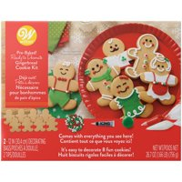 Wilton Ready to Decorate Gingerbread Dress-'Em-Up Cookie Decorating Kit