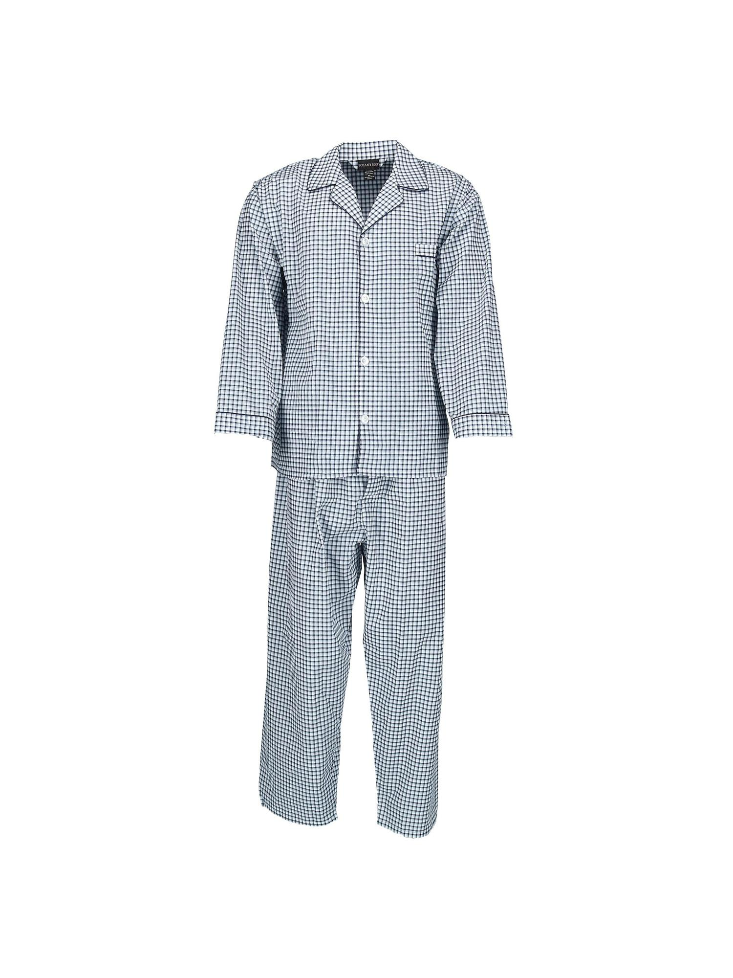 Botany 500 Size  1X Men's Long Sleeve Long Leg Pajama Set