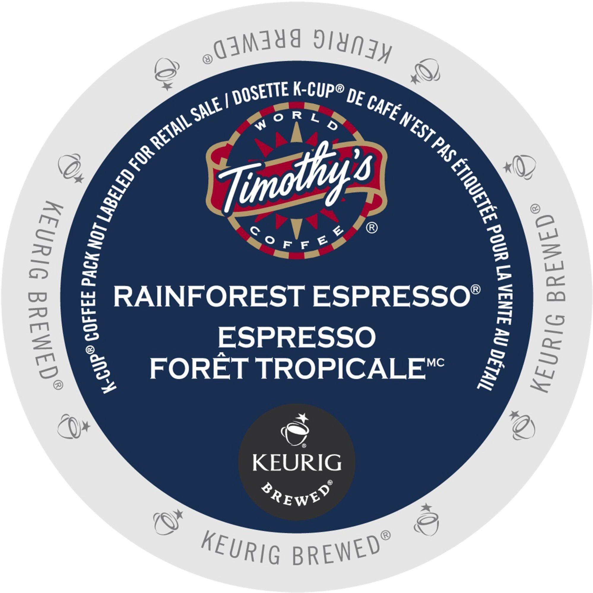 Timothy's Coffees Rainforest Espresso Extra Bold Coffee, ...