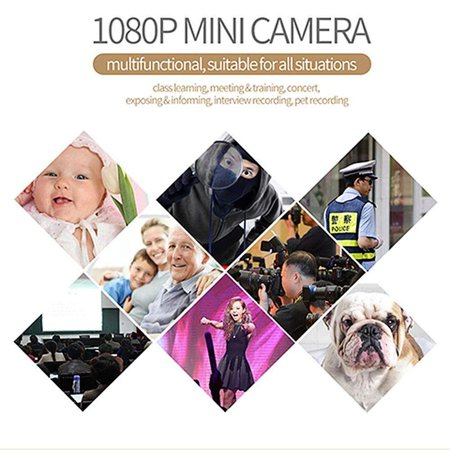 Greensen Mini Camera HD 1080P Camcorder Sports DV Recorder Swivel Mount Body Clip Security Camera with Battery Inside - Night Vision & Motion Detection - for Office,Car,Home - image 1 of 8