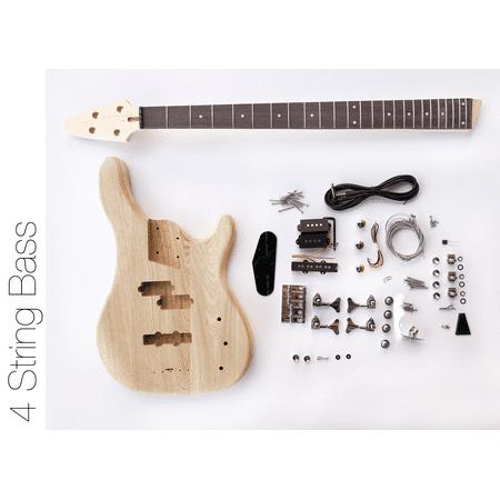 diy electric bass guitar kit - 4 string ash bass