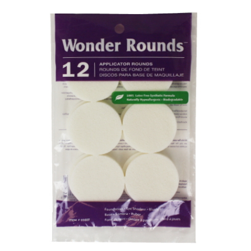 Wonder Rounds 12 Applicator Rounds - White