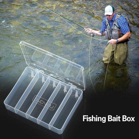 - 5 Compartment Fishing Bait Lure Hooks Box Bait Storage Case Fishing Tool Tackle Organizer Sorting Box