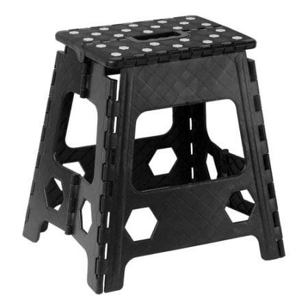 Enjoyable Superio Folding Step Stool With Anti Slip Surface 15 Black Lamtechconsult Wood Chair Design Ideas Lamtechconsultcom