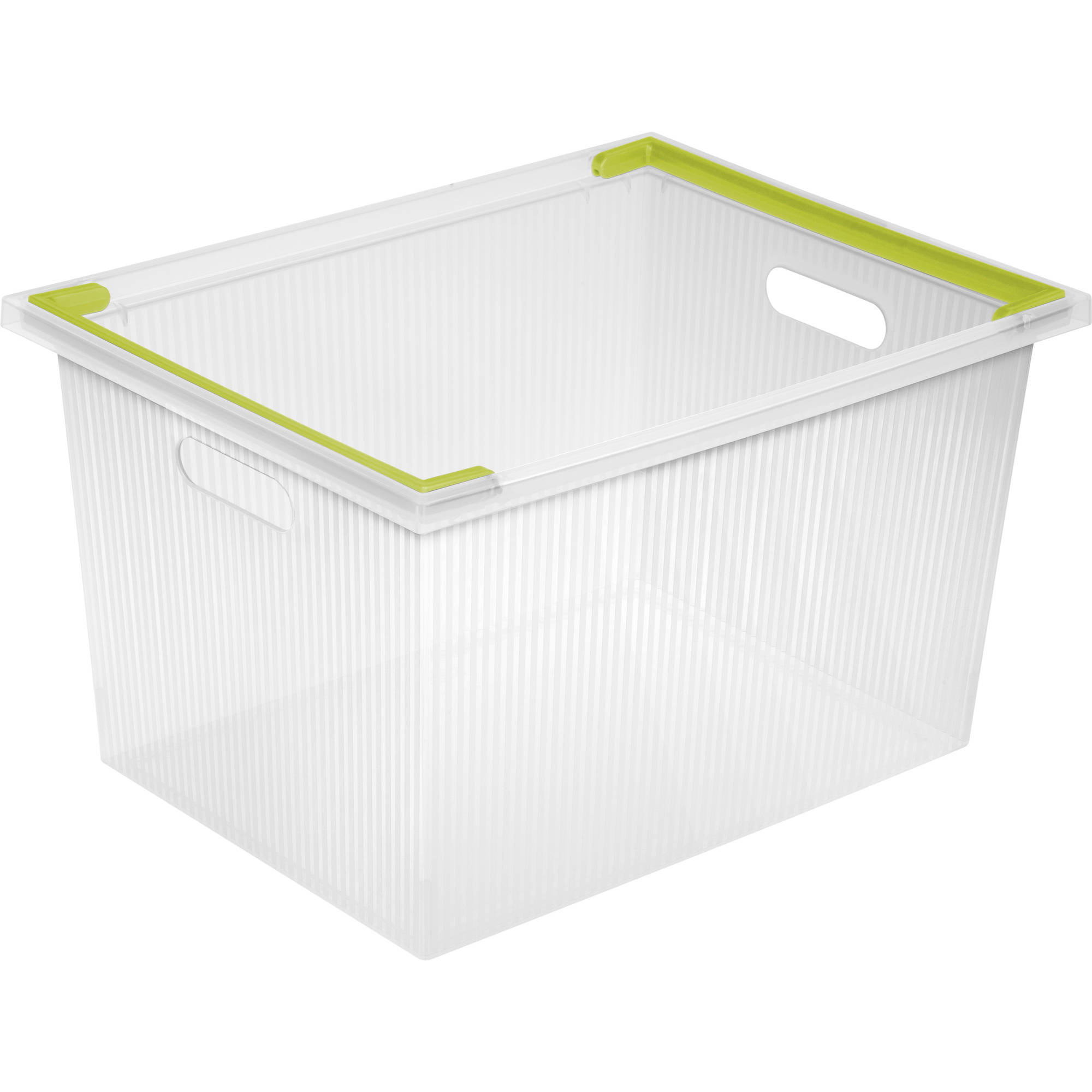 Sterilite Deep Stacking Bin- Bamboo Grass