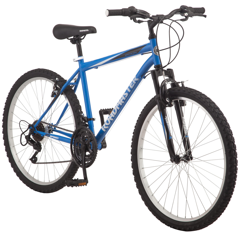 "Roadmaster Granite Peak 26"" Men's Mountain Bike, Black/Blue"