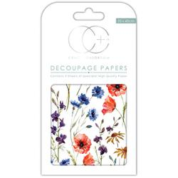 "Wildflowers - Craft Consortium Decoupage Papers 13.75""X15.75"" 3/Pkg"