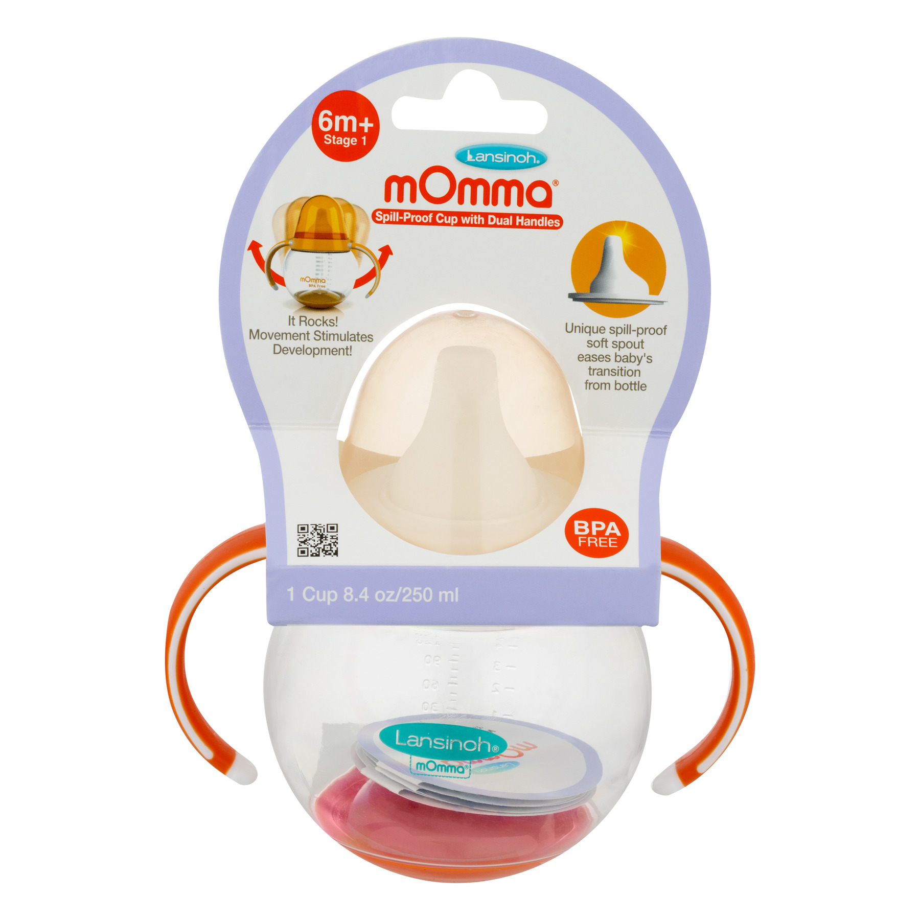 Lansinoh mOmma Stage 1 Soft Spout Sippy Cup