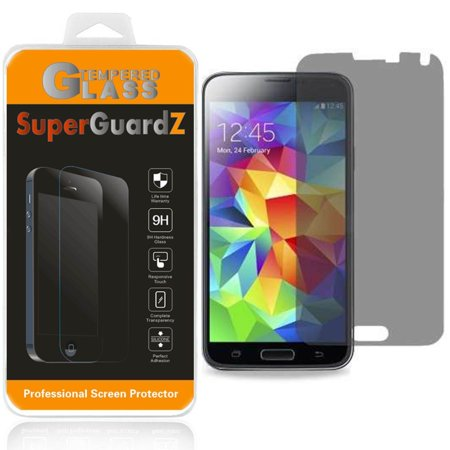[2-Pack] Samsung Galaxy S5 SuperGuardZ Tempered Glass Screen Protector [Privacy Anti-Spy], Keep Your Screen Secret, 9H Anti-Scratch,