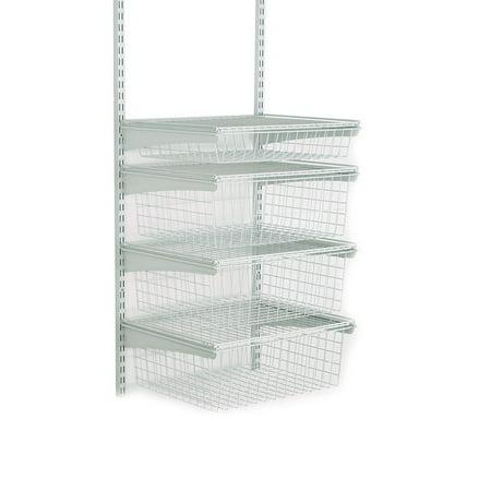 ClosetMaid ShelfTrack 4-Drawer Kit in White