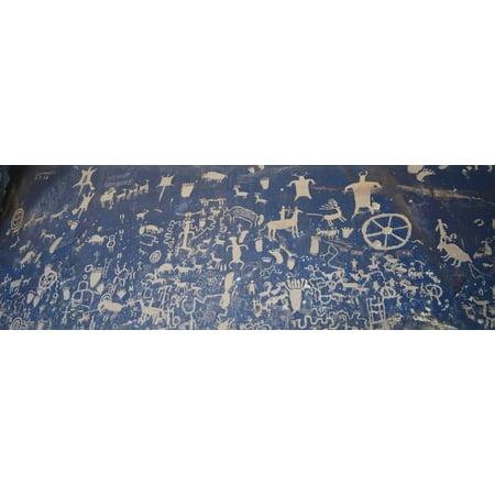 Petroglyphs Carved on Rock Face, Newspaper Rock Park, Canyonlands National Park, Utah, USA Print Wall Art By Scott T. Smith