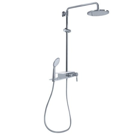 Exposed Shower Column - Stainless Steel Panel Rainfall Shower Column w /Hand Shower