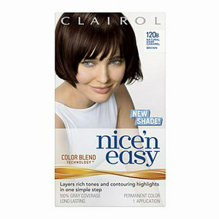 Clairol Nice N' Easy With Color Blend Technology Perm Hair Color, Natural Dark Caramel Brown, #120B,