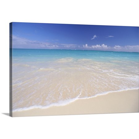 Great BIG Canvas Mary Van de Ven Premium Thick-Wrap Canvas entitled Hawaii, Beautiful White Sand Beach With Turquoise Water, Blue