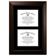 8x10 Double Degree Legacy Black, Black & Silver Mats-Certificate Frame