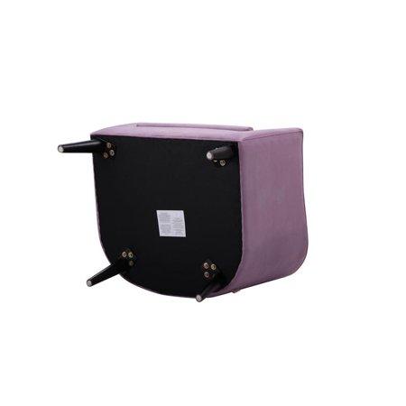 Lia Mid-Century Barrel Accent Chair Lavender - image 3 de 10