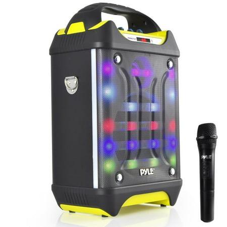 Small Portable Pa System, Pyle Rechargeable Speaker Wireless Karaoke Pa