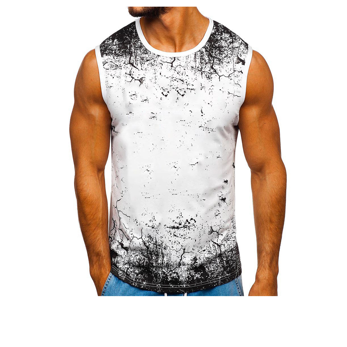 Great for Holidays Mens Muscle Vests Sports Sleeveless Top Running Workout Vest Activewear