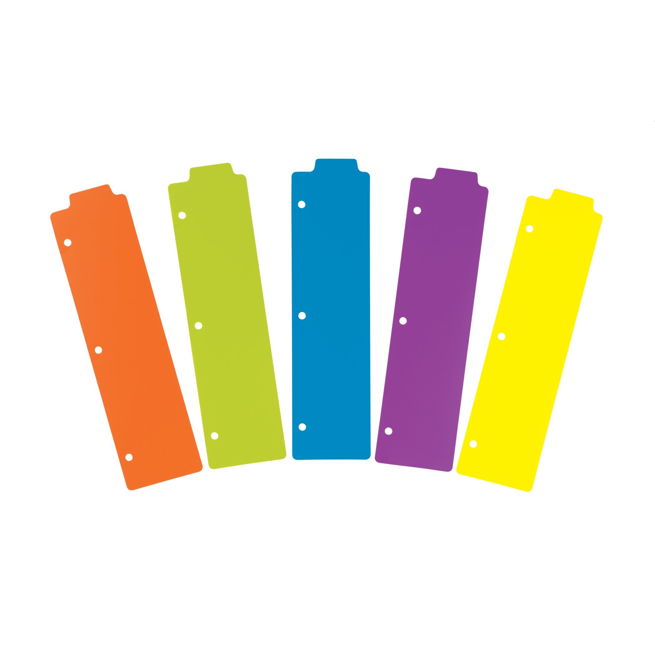 Avery Dennison 24908 Tabbed Snap-in Bookmark Plastic Dividers, Assorted Solid Color, 5-tab, 3x11 1 2 by Avery Dennison