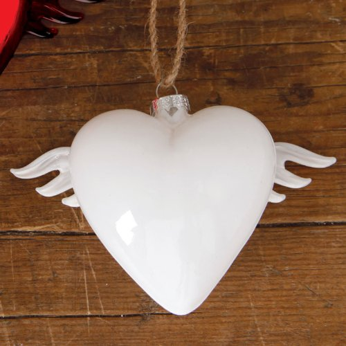 HomArt Glass Winged Heart Ornament