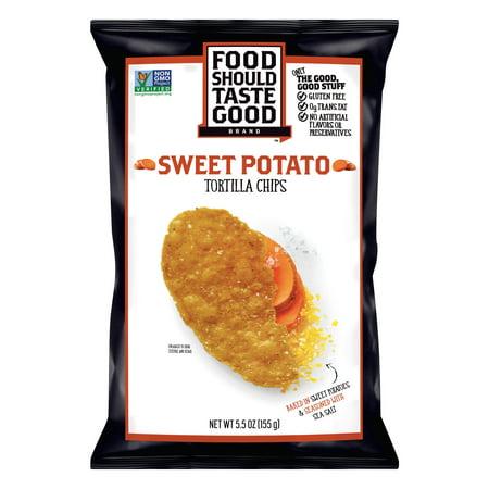 Food Should Taste Good Sweet Potato Tortilla Chips, 5.5 oz](Halloween Tortilla Chips)