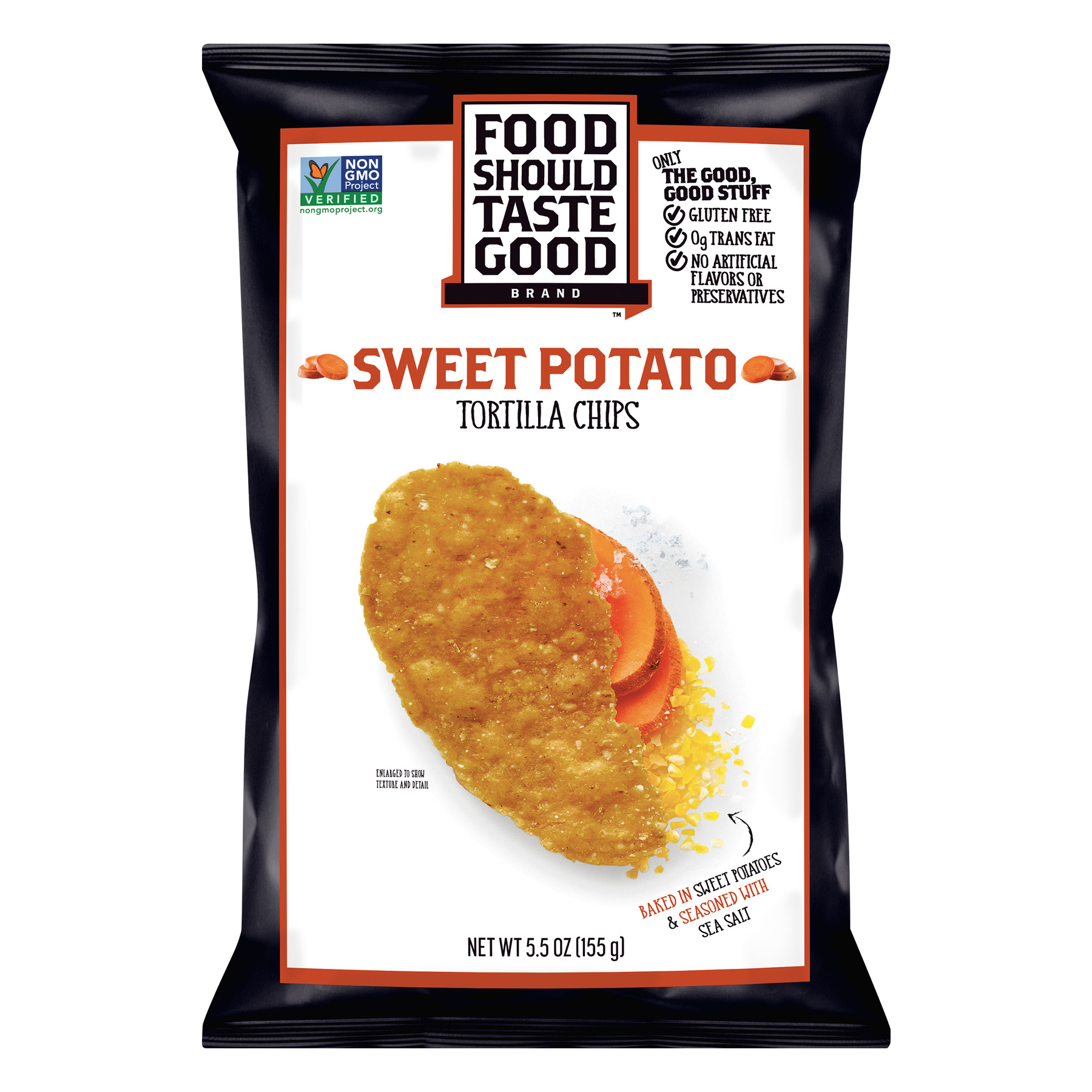 Food Should Taste Good Sweet Potato Tortilla Chips, 5.5 oz