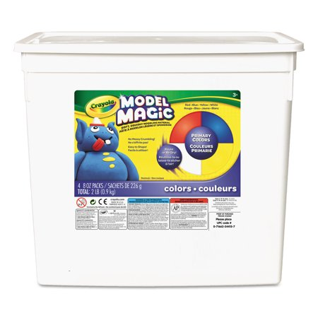 Crayola Model Magic, 2 Lb. Primary Colors Modeling Clay for Kids, 1 Each (Crayola Model Magic)
