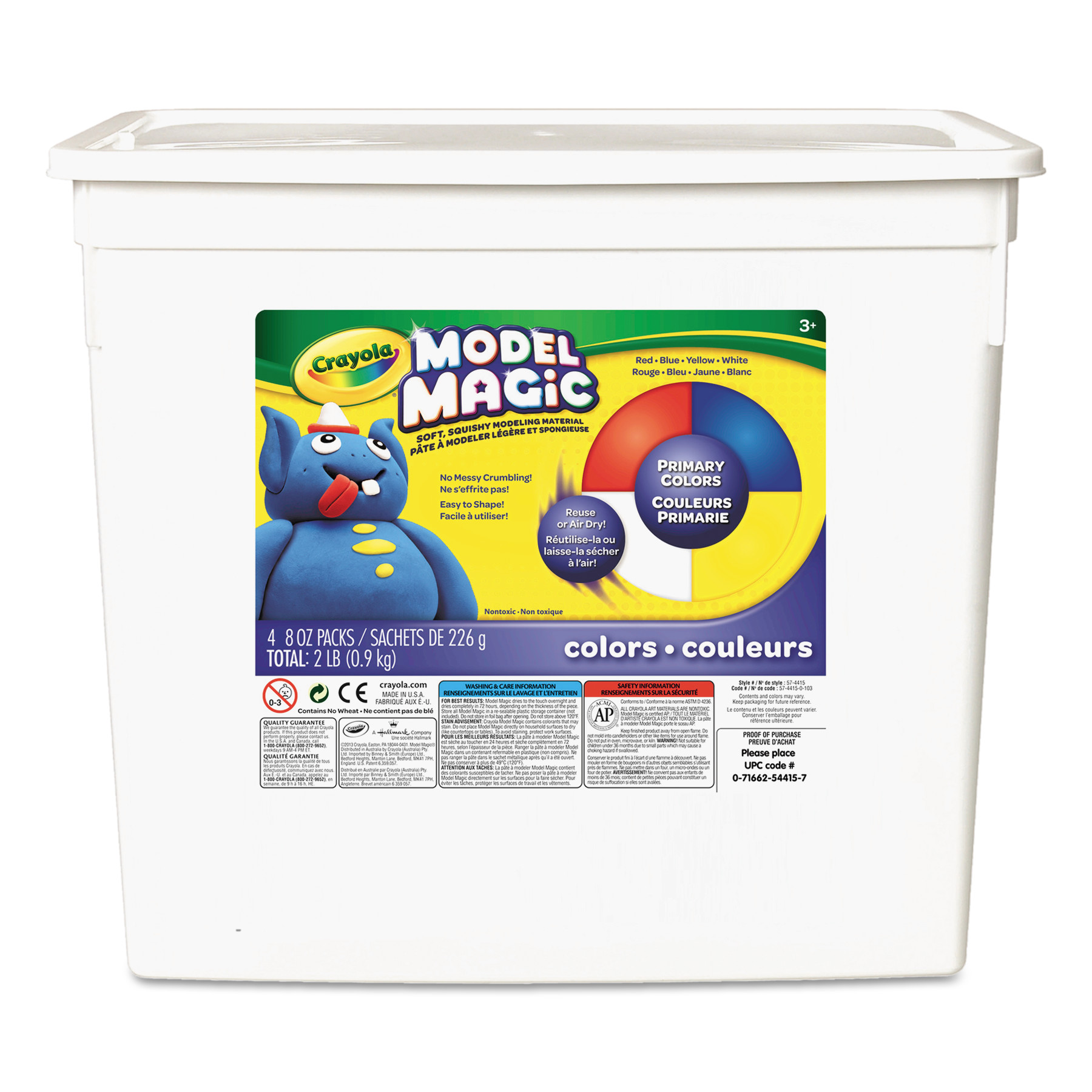 Crayola Model Magic, Primary Colors, Modeling Clay for Kids, 2lb